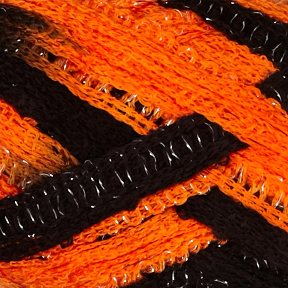 Red Heart Boutique Sashay Team Spirit Yarn Orange/Black Yarn