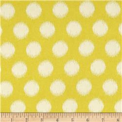 Heather Bailey Momentum Rayon Challis Threaded Dot Gold