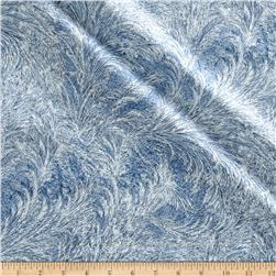 Nocturne Metallic Branches Ice Blue/Silver
