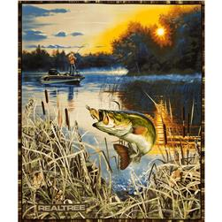 Realtree Bass Fishing Panel Beige