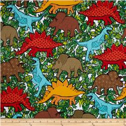 Kanvas 10000 B.C. Flannel Dino-Mite White Fabric