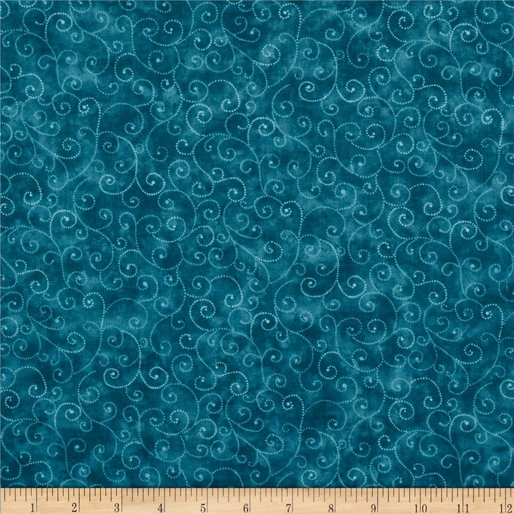 Amazon.com: Decorative Bowl of Teal Green and Blue Swirls ...