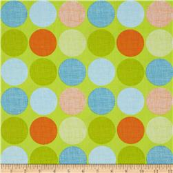 Frolicking Forest Dots Green Fabric