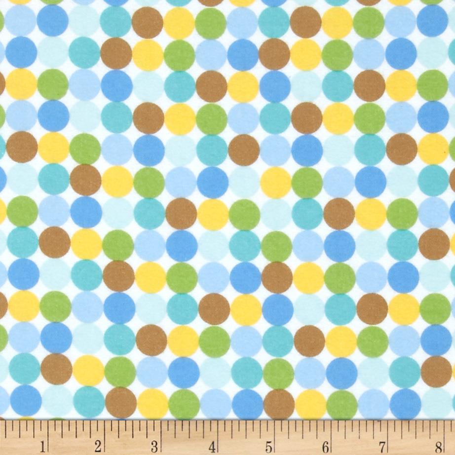 Riley Blake Snips & Snails Flannel Dots Multi