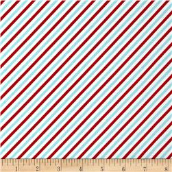 Riley Blake Pixie Noel Stripe Red