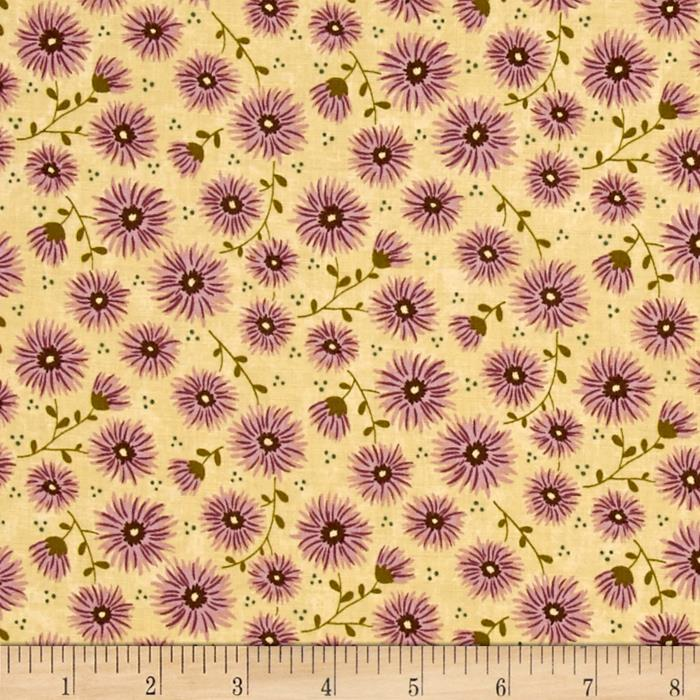 Moda Print Charming Mums Cream/Berry