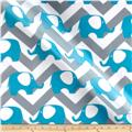 RCA Ella Chevron Sheers Capri Blue/Grey