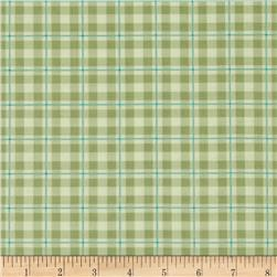 Daisy Garden Plaid Avocado