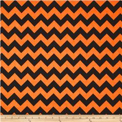Riley Blake Wide Cut Chevron Medium Orange/Black Fabric