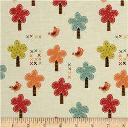 Riley Blake Giraffe Crossing Giraffe Trees Cream Fabric
