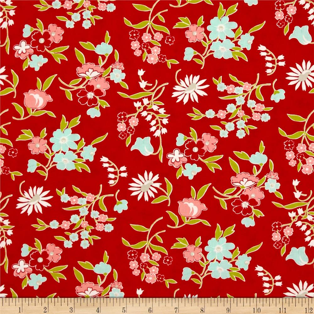 Moda Vintage Picnic Playful Red