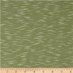 Jersey Knit Mini Stripe Grass Green/White