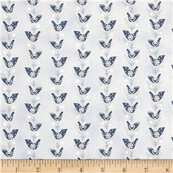 Lecien Yuletime Cozy Christmas Birdies Blue