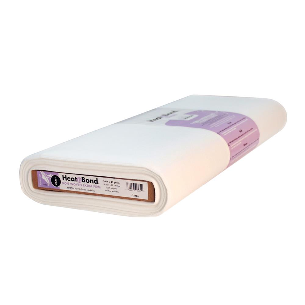Heat'n Bond Q2434 Non-Woven Craft Fusible - Extra Firm White 20""