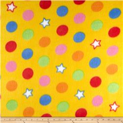 Fleece Print Gumballs Yellow