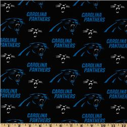 NFL Cotton Broadcloth Carolina Panthers Blue/Black
