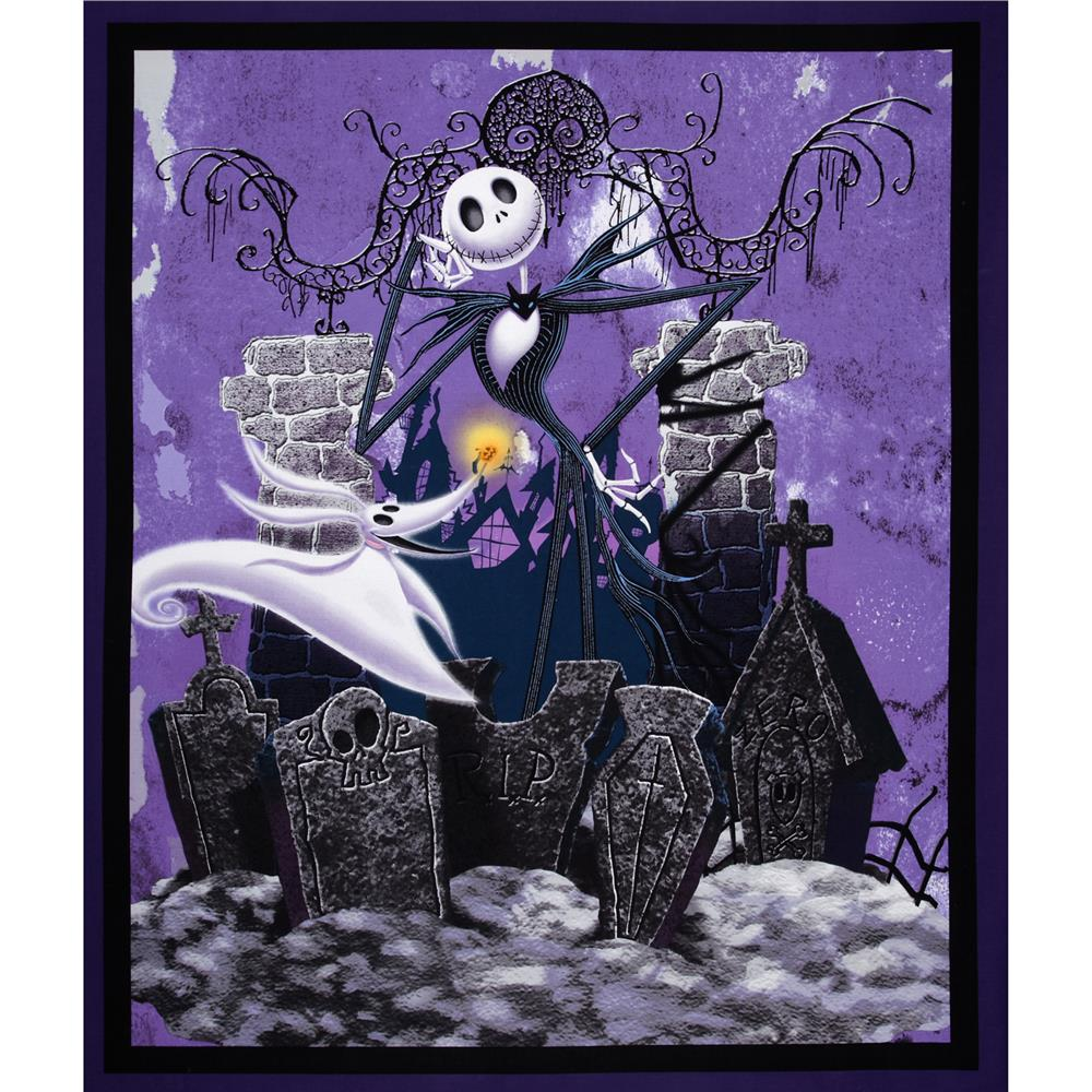tim burtons the nightmare before christmas 36 panel purple discount designer fabric fabriccom