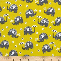 Michael Miller Pastel Pop Citron Gray Flannel Water