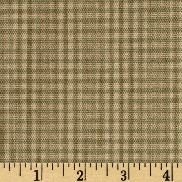 Small Check Olive/Tan
