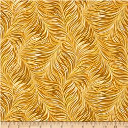 Nuance Feathered Fan Yellow