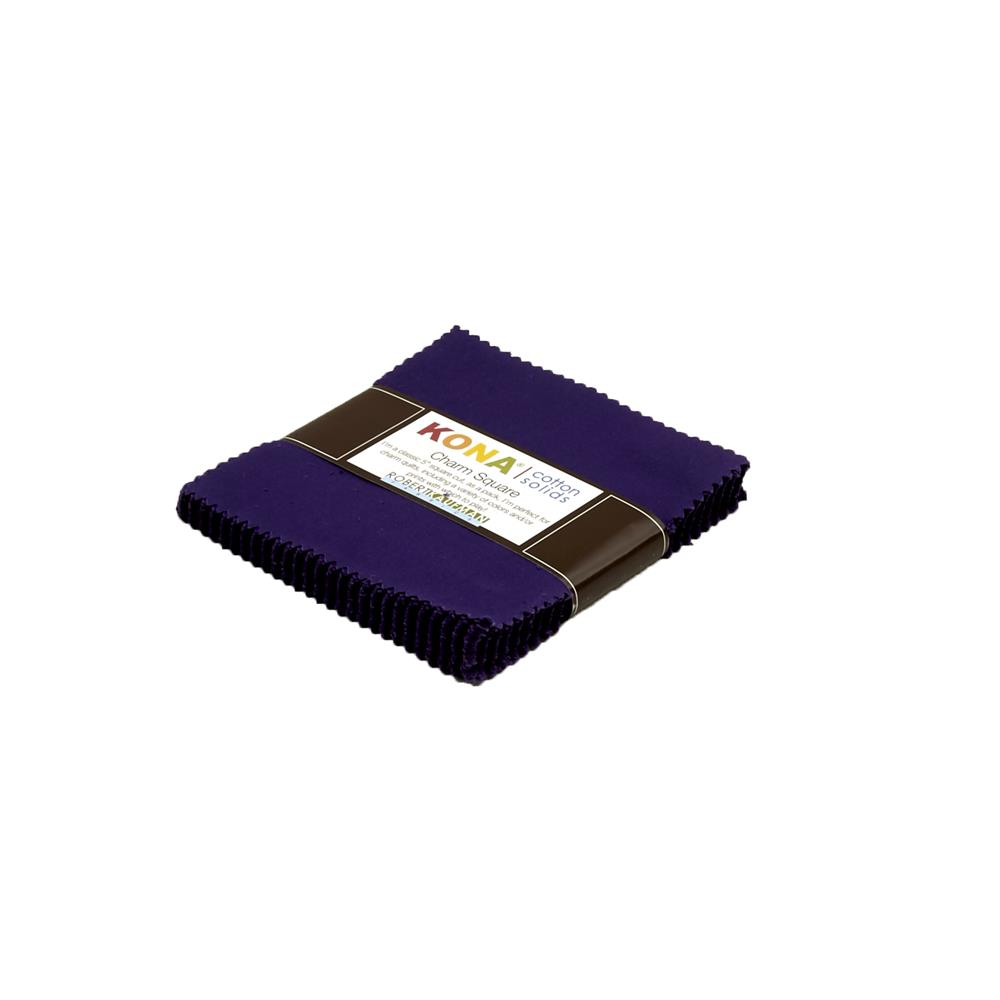"Kona Cotton Purple 5"" Charm Squares"