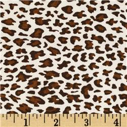 Leopard Cotton Duck White/Brown/Black