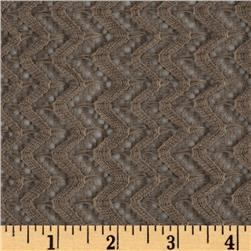 Copacabana Stretch Crochet Chevron Lace Brown