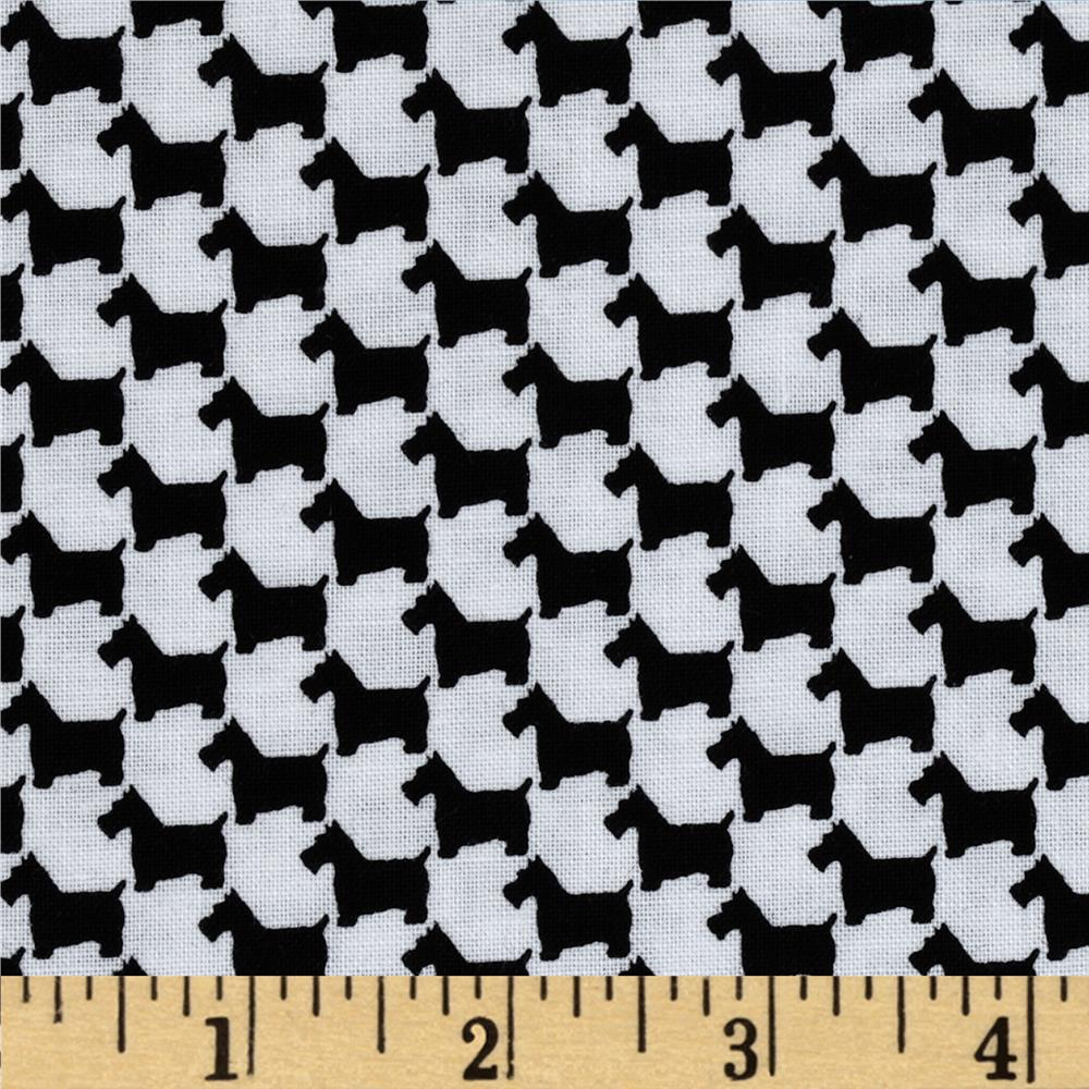 Michael Miller Scottie Houndstooth Onyx