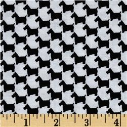 Michael Miller Scottie Houndstooth Onyx Fabric