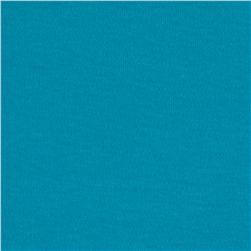 100% Organic Cotton Interlock Knit Aqua