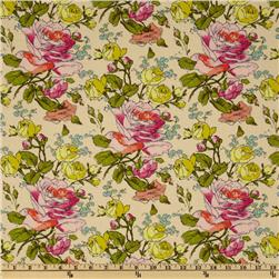 Amy Butler Alchemy Organic Sketchbook Roses Cream