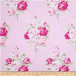 Tanya Whelan Slipper Roses Pink Fabric