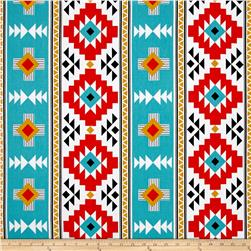 Riley Blake Four Corners Canvas Main Teal