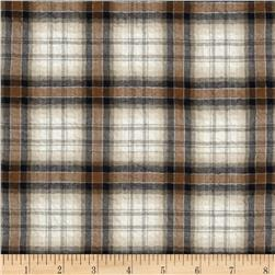 Designer Shirting Plaid Black/Brown