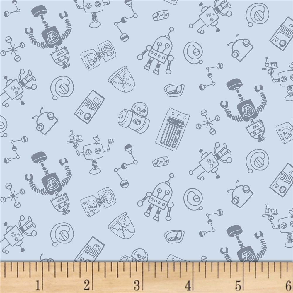 Dear stella flannel gravity robots iron discount for Gravity fabric