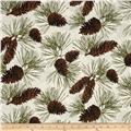 Rustic Refined Pinecones Natural