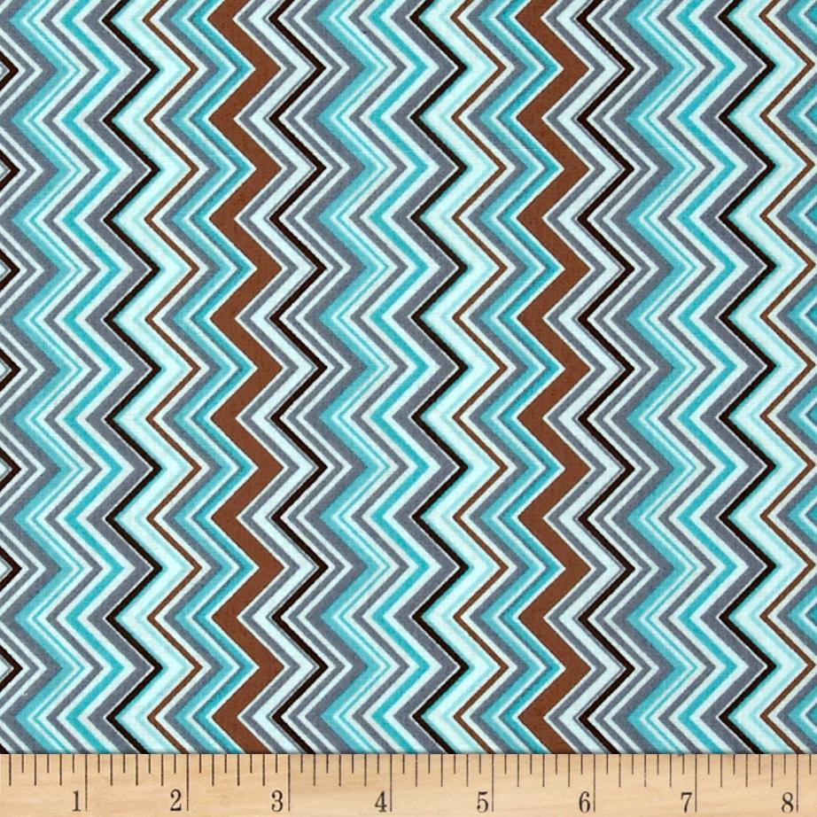 Cowgirl Up Chevron Stripe Light Turquoise