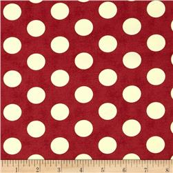 Moda The Boat House Canvas Buoys Apple Red