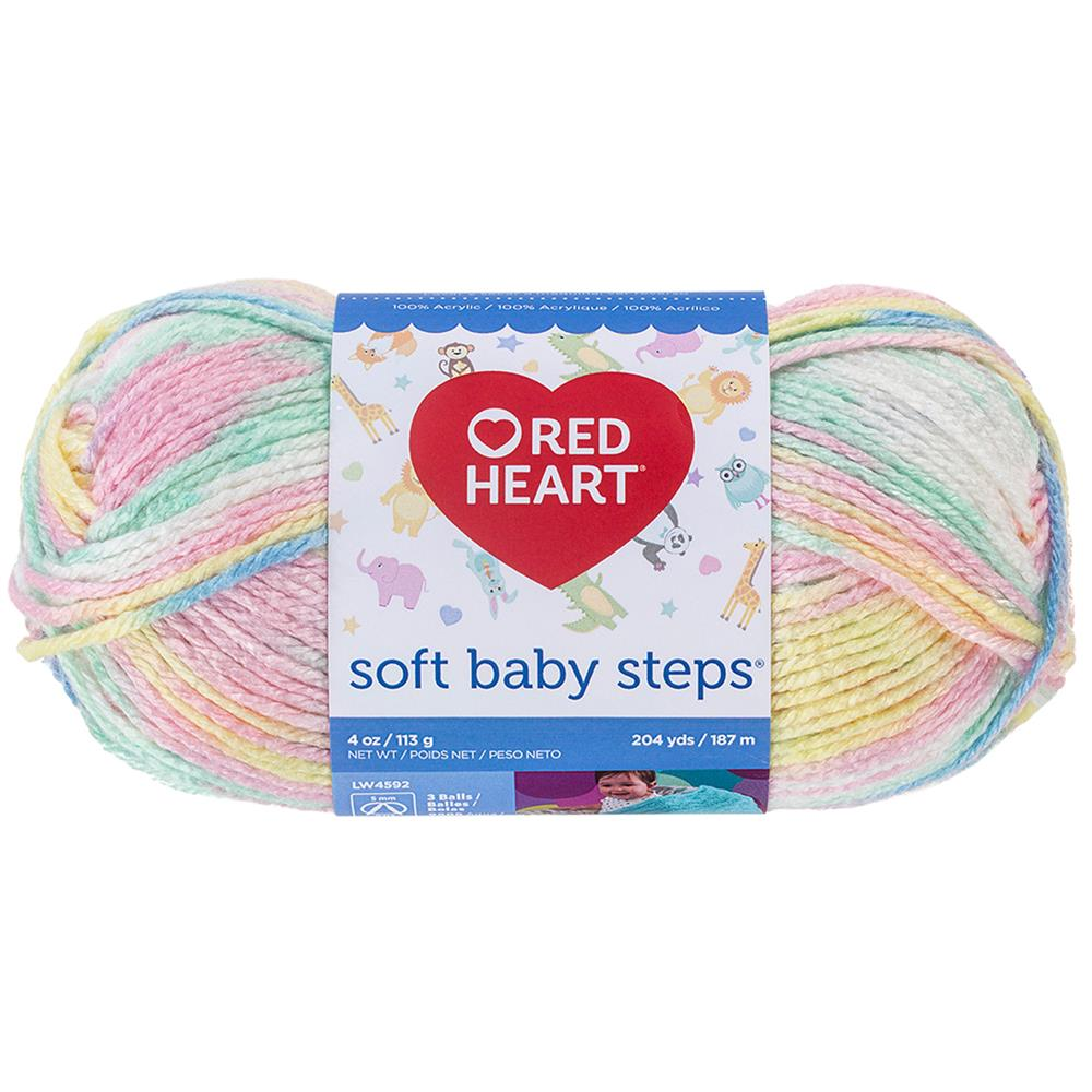 Red Heart Yarn Soft Baby Steps 9930 Binky