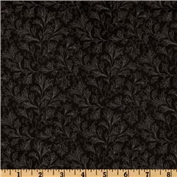 108'' Floral Quilt Backing Black