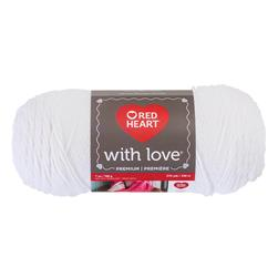 Red Heart With Love 1001 White