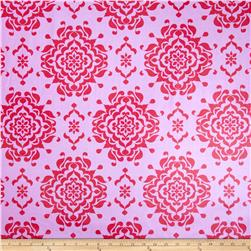 Riley Blake Laminate Splendor Damask Pink Fabric