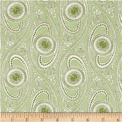 Summer Rose Medallion Swirl Green