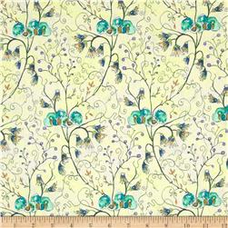 Cottage Garden Akebia Periwinkle Fabric