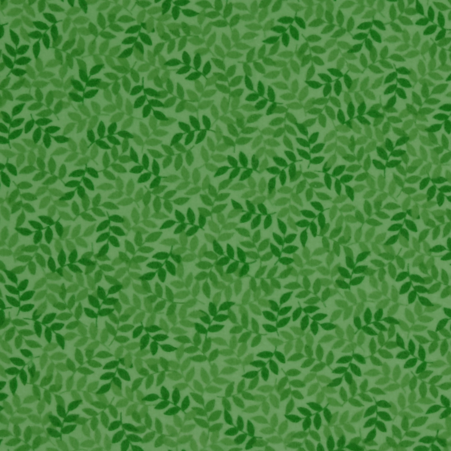 Harmony Flannel Leaf Spring Green Fabric by Quilting Treasures in USA