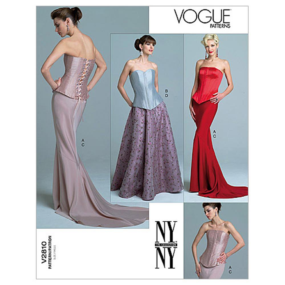 Vogue Misses' Top and Skirt Pattern V2810 Size 060