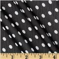 Yoryu Chiffon Dots White/Black