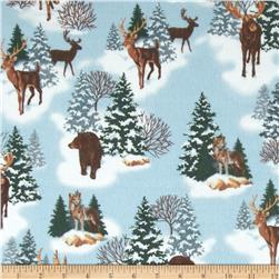 Big Country Flannel Moose In Snow