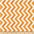 Moda Simply Color Dotted Zig Zag Sweet Tangerine