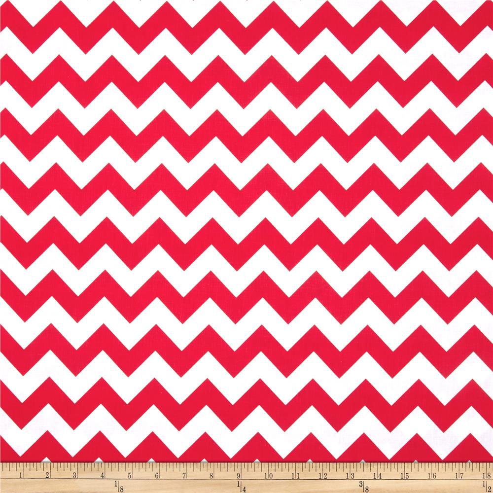 Riley Blake Wide Cut Chevron Medium Red